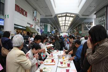 本町アーケード街 モーニング博覧会